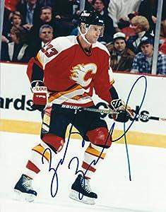 Autographed Zarley Zalapski 8x10 Calgary Flames Photo