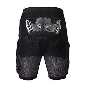 Ohmotor Motorcycle Bicycle Ski Protective Armour Pants, Heavy Duty Body Armor Pads Guard Protection for Hips Legs Motorbike Riding Motorcross Racing Gear Bike Cycling, Fits for Men & Women (Medium)
