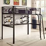Coaster Boltzero Twin Loft Workstation bed, Black