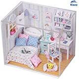 Kisoy Romantic and Cute Dollhouse Miniature DIY House Kit Creative Room Perfect DIY Gift for Friends,Lovers and Families(Gorgeous Dawn)