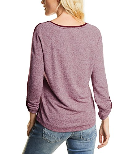 Cecil Cosy Doubleface Shape, Camiseta para Mujer Rot (Velvet Red 10986)