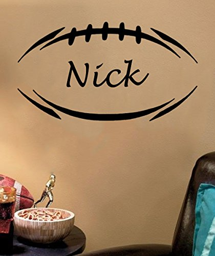 Personalized Football Wall Decal 34x19 product image
