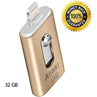 [Apple MFi Certified] Flash Drive 32GB USB 2.0 for iPad iOS PC and Android with Extended Lightning Connector Yuaner External Storage Memory Stick