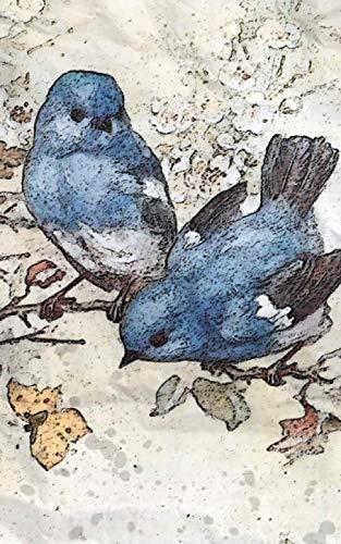 Notebook: Blue Bird and Blossom Wild Bird Wildlife Perch Birds Blues Birds 5