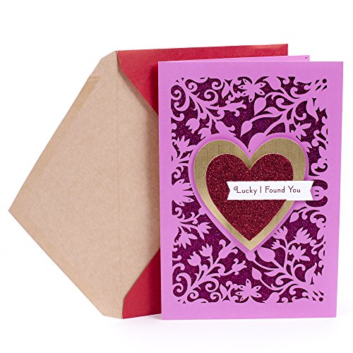 Hallmark Valentine's Day Greeting Card for Romantic Partner (Red Glitter Heart)