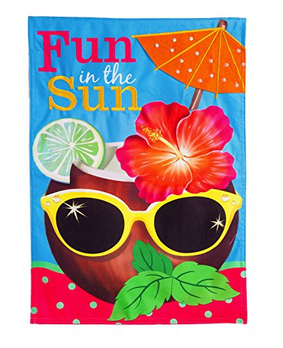 Evergreen Flag Coconut Drink Linen House Flag, 28 x 44 inche