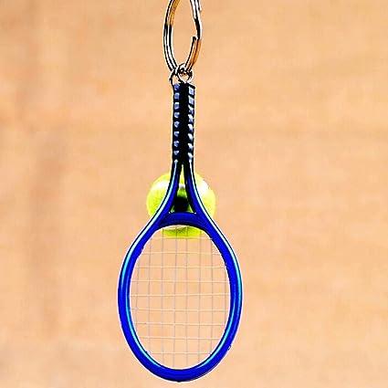 Mini Pelota de Raqueta de Tenis llaveros llaveros, Raqueta ...