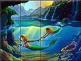 Ceramic Tile Mural - Mother and Child - JW- by Jim Warren - Kitchen backsplash/Bathroom Shower