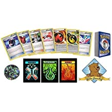 50 Assorted Pokemon Card Pack Lot - All Trainer and Supporter Cards with Bonus Random Pokemon Collectible Coin! Includes 3 Custom Golden Groundhog Token Counters!