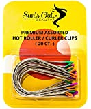 Sun's Out Beauty Premium Replacement Assorted Hot Roller Clips - Curler Clips - Larger Sizes Set (20 Count) - Fits Most…