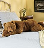 Super-Soft Big Bear Hug Body Pillow with Realistic Accents Brown Bear 48 L