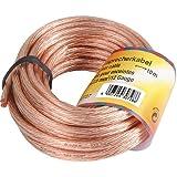 Hama 30728 Connectique Câble Haut-Parleurs 2 x 2.50²  10 m Transparent
