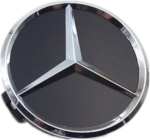 Dodoro 4 Pack 75mm//2.95,60mm//2.6 Car Wheel Center Hub Caps,Hubcaps Logo Covers for Mercedes Benz A//C//E//S//ML//GLC//GLK//CLK Series 60mm Black