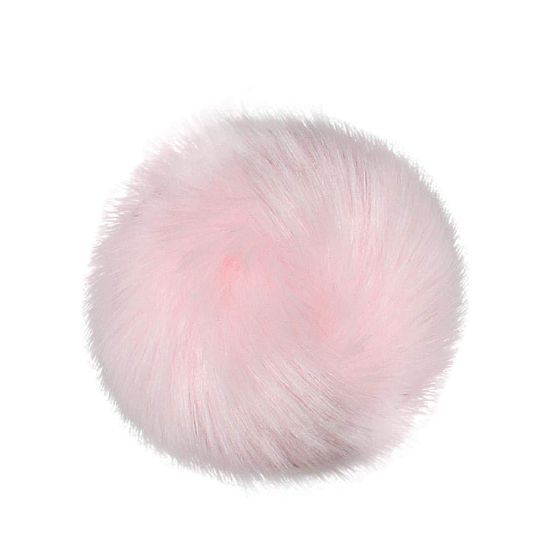 Boule de Pompon Fluffy DIY pour Bonnet Tricoté, BZLine Faux Fox Fourrure De Fourrure pour Vêtements BZL-01