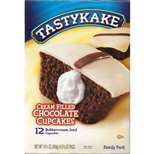 Tastykake: Buttercream Filled Chocolate Cupcakes 6/2 Packs (3 Boxes) -