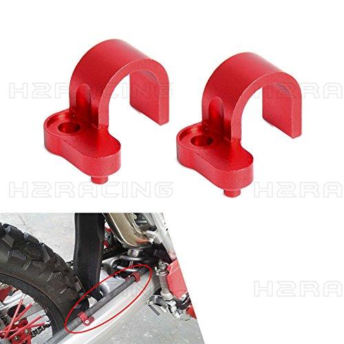 H2RACING Red CNC Rear Brake Line Hose Cl - Brake Line Holder Shopping Results