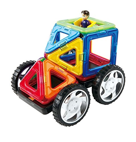 Magformers Vehicle Wow Set (16-pieces) Magnetic    Building      Blocks, Educational  Magnetic    Tiles Kit , Magnetic    Construction  STEM Toy Set includes wheels by Magformers (Image #3)