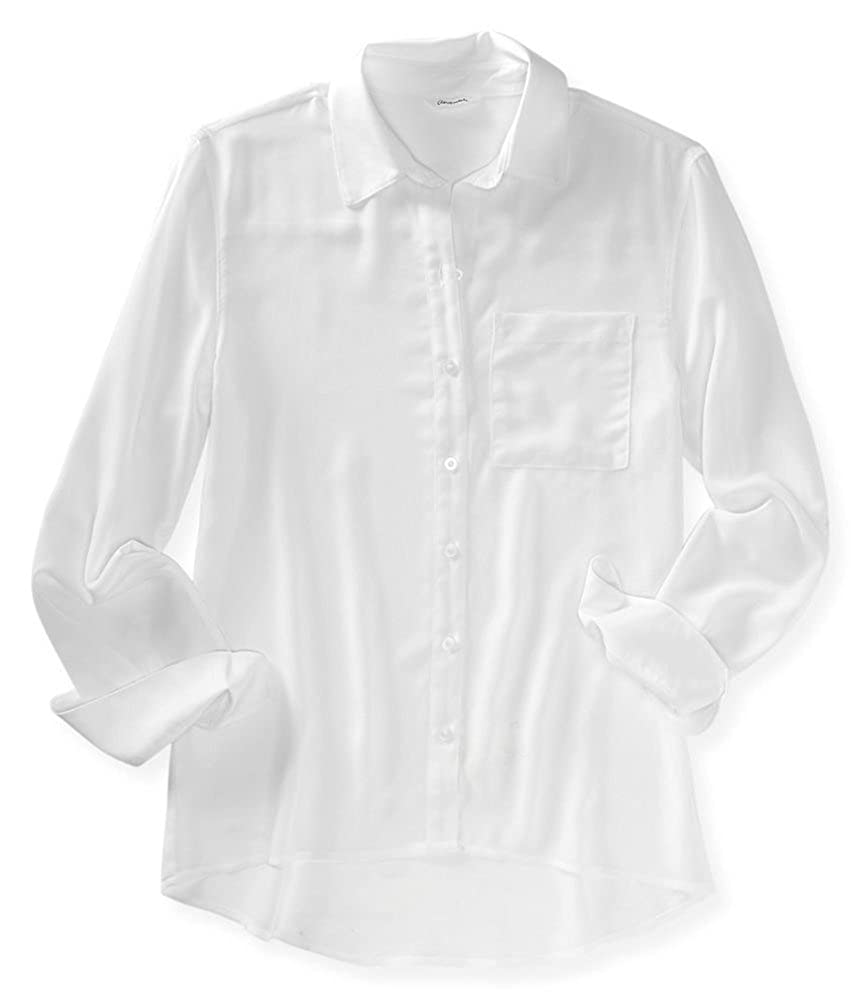 2fd187a6 Aeropostale Womens Semi-Sheer Button Down Blouse at Amazon Women's Clothing  store: