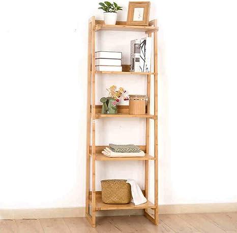 YUEQISONG Estantería de bambú, 5 estantes, Multifuncional, con Forma de Escalera, para Plantas y Flores: Amazon.es: Deportes y aire libre