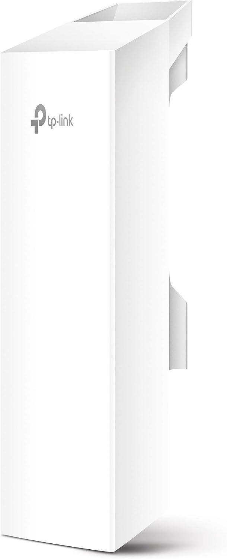 TP-Link Exterior de Alta Potencia WiFi Transmitor– 2.4GHz, 300Mbps, Alta sensibilidad Mimo Antena, 5km+ Punto a Punto transmisión inalámbrica, PoE de Suministro eléctrico y PoE Adaptador Incluido, Mo