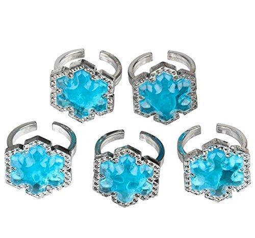 Snowflake Jewel Ring Cupcake Topper