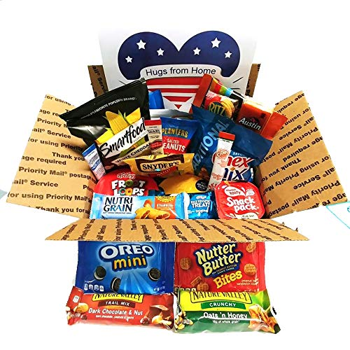 Care Package Military Service Members: Perfect for Basic Training, Deployments, Boot Camp with Snacks Variety -