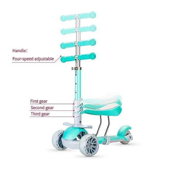 Amazon.com: Patinete para niños 5 en 1, 3 ruedas con asiento ...
