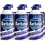 Barbasol Extra Moisturizing with Vitamin-E Thick and Rich Shaving Cream for Men, 10 oz., 6 Piece