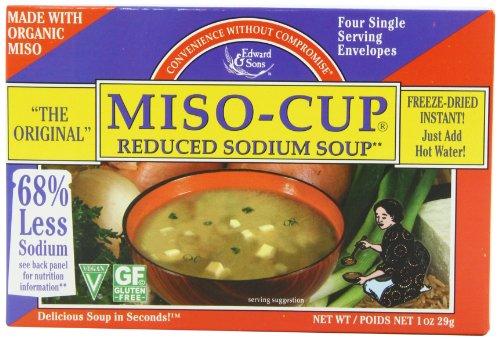 Мисо-Cup Снижение Суп натрия, одну порцию конверты в 4-граф Коробки (в упаковке 12)