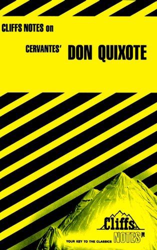 CliffsNotes On Cervantes' Don Quixote  Cliffsnotes Literature Guides