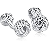 Honey Bear Twist Knot Cufflinks - Stainless Steel for Men's Shirt Wedding Business Gift