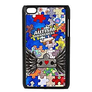 Funny Creative Design Autism Ipod Touch 4 Case, Snap on Protective Autism Ipod 4 Case