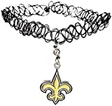 Siskiyou NFL New Orleans Saints Knotted Choker, Black, Stretch