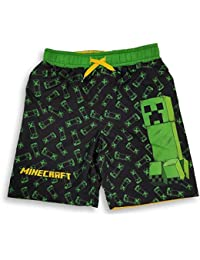Minecraft Swim Trunks Creepers All Over Shorts for Boys