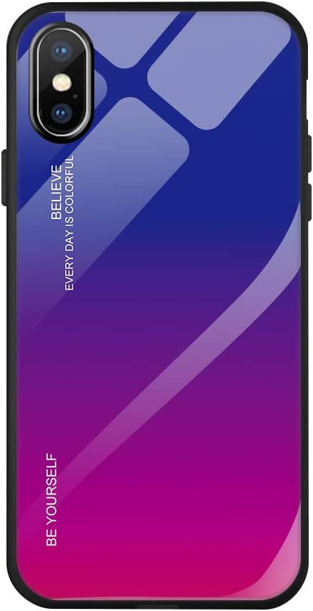 Caler H/ülle Kompatibel mit Xiaomi Mi Mix 2S H/ülle 9H Geh/ärtetem Marmor Glas R/ückseite mit TPU Rahmen Schutzh/ülle Ultra D/ünn Handyh/ülle Rahmen H/üllen Slim Kratzfest Shell Case Sto/ßfest