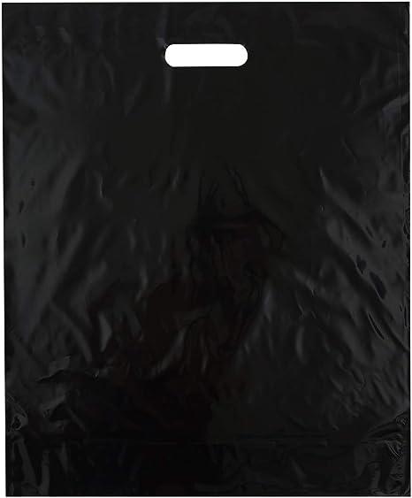 15x18 Red Die Cut Handle Plastic Shopping Bags 50//cs