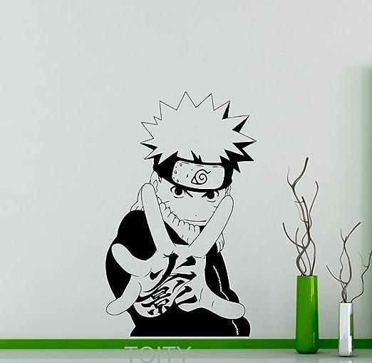 Uzumaki Naruto Tatuajes de Pared Manga Japonesa Etiqueta Engomada ...