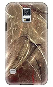Simply Case Designs Abstract Golden Lines Design PC Material Hard Case for Samsung Galaxy S5