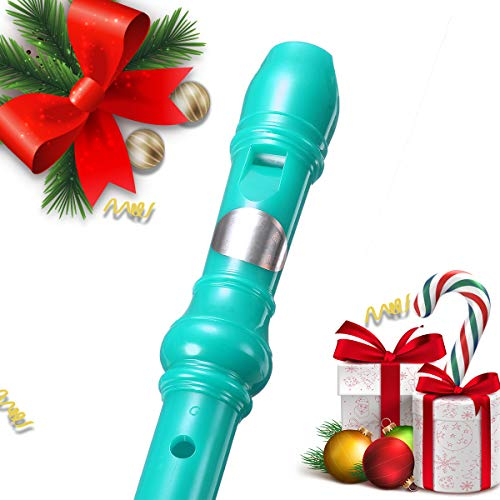 Large Product Image of KINGSO 8-Hole Soprano Descant Recorder With Cleaning Rod + Case Bag Music Instrument (Green)