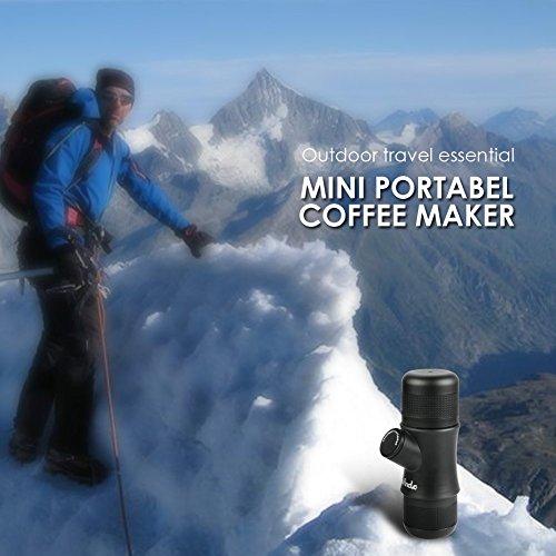 Wancle Mini Portable Espresso Machine Coffee Maker Travel for Camping + 3 Color Silicone Case