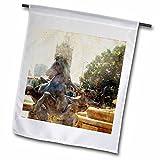 3dRose Cassie Peters Kansas City - Kansas City J.C. Fountain Horse - 18 x 27 inch Garden Flag (fl_262921_2)