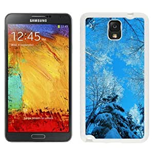 NEW Custom Designed For SamSung Galaxy S4 Case Cover Phone With Tree Tops Winter Blue Sky_White Phone
