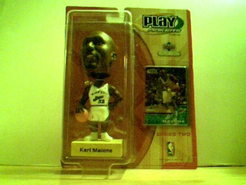 (Play Makers by Upper Deck Bobble Head Karl Malone (Jazz) with Collectible Card Included - Series Two by Upper Deck)