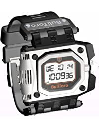 BullToro Mens Crown Operated Digital with Stainless Steel Case and Polyurethane Strap - 5000