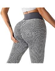 ATAZAR Tik Tok Leggings para mujer para levantamiento de glúteos, leggings de entrenamiento de cintura alta, pantalones de yoga, control de barriga, mallas deportivas