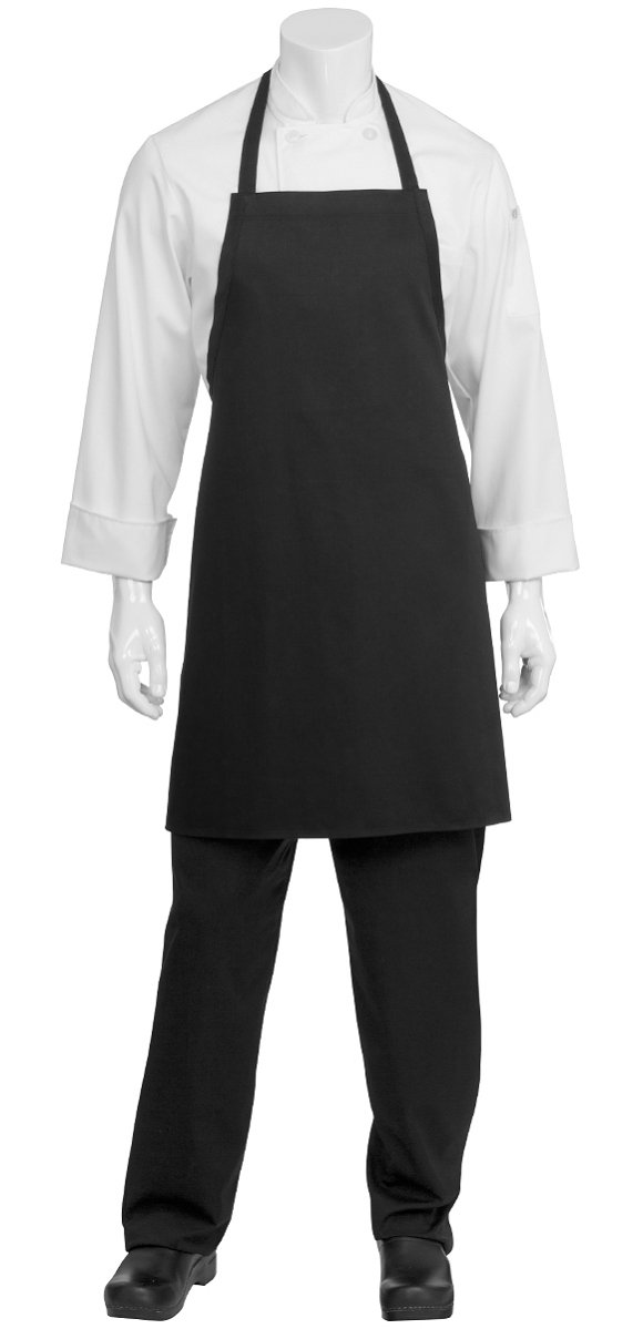 Bib Aprons-black-12 (1dz) Piece Pack-new Spun Poly-commercial Restaurant Kitchen