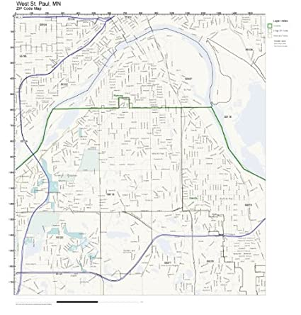 Zip Code Map St Paul Mn.Amazon Com Zip Code Wall Map Of West St Paul Mn Zip Code Map Not