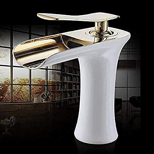 Yadianna 蛇口タップ流域水栓滝の浴室の蛇口シングルハンドル流域ミキサータップ浴室アンティーク蛇口の真鍮のシンクの水クレーンシルバー