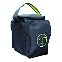 The Traveler Solo Cosmetic & Toiletry Case - Leak-proof Toiletry Luggage Bag, Safely Transports Full-size Beauty Products & Travel Sized Toiletries. Black/Lime.