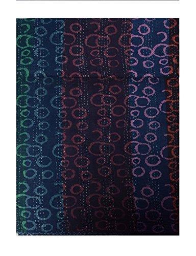 Vedant Designs Dabu印刷コットンKanthaダブルベッドスプレッド B01N6QNJRO